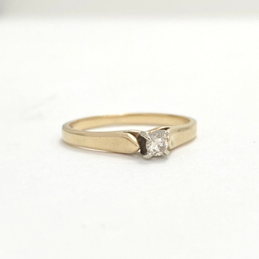 10K Gold Solitaire Diamond Ring