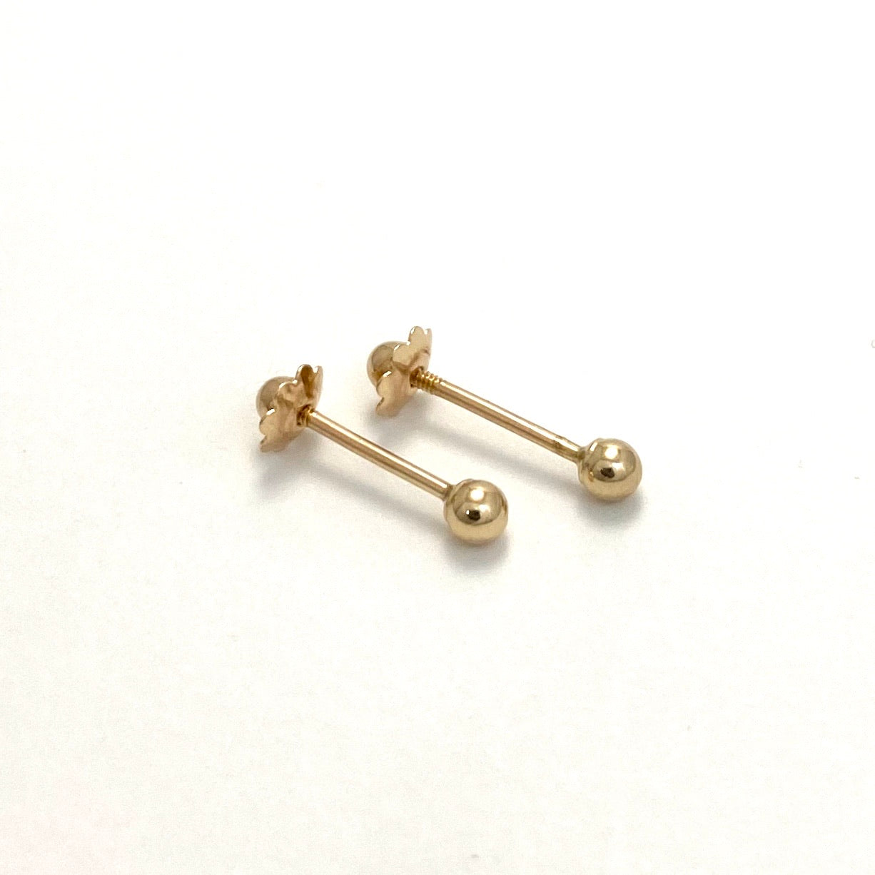 10K Yellow Gold Studded Ball Earrings, 3mm, 4mm, 5mm, 6mm and 7mm