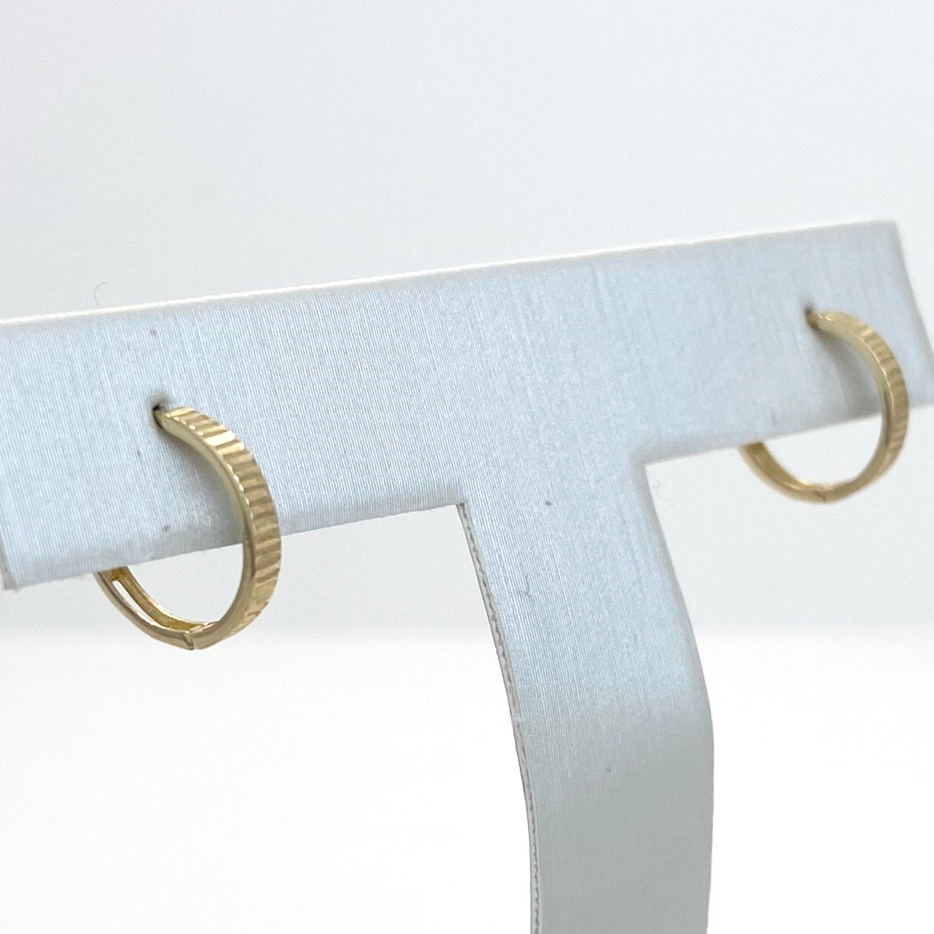10K Yellow Gold Mini Infinity Hoop Earrings, 3 Designs
