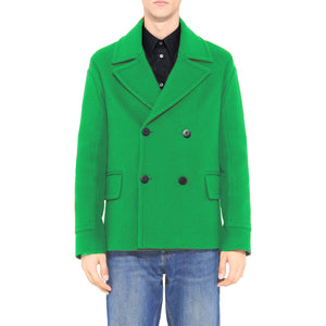 Men's Custom Made to Order 100% Boiled Wool Short Pea Coat - Choice of Styles, Colours