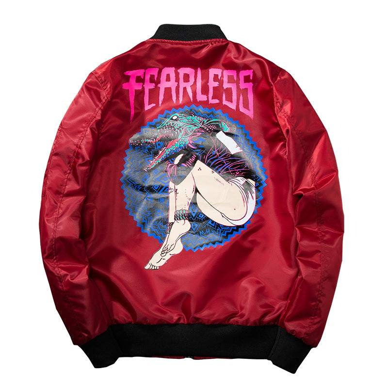 "Mens Womens ""Fearless"" Bomber Jacket"
