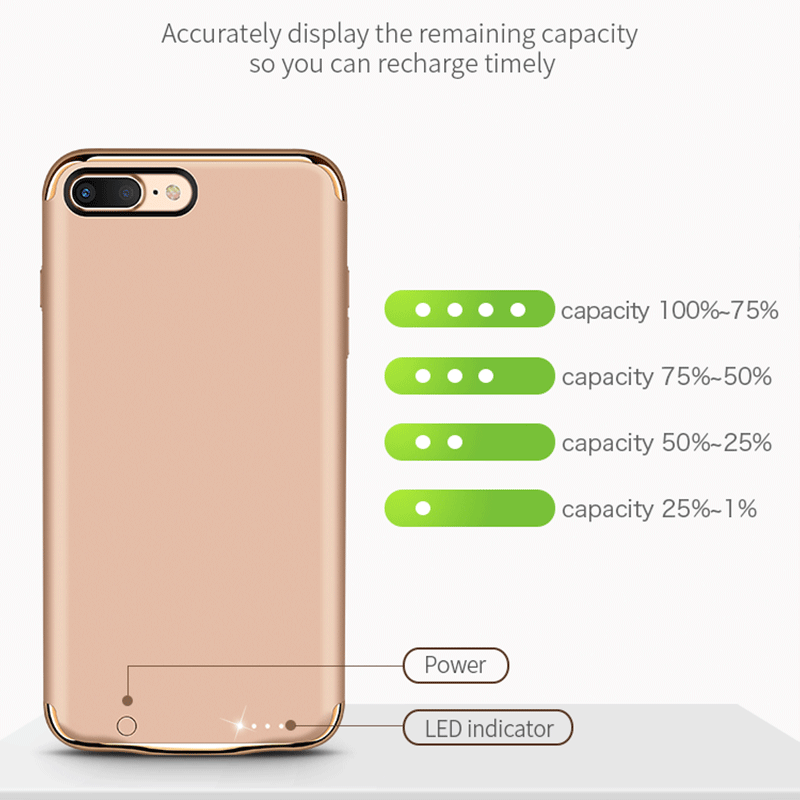 Slim battery power bank charger iPhone 7 case