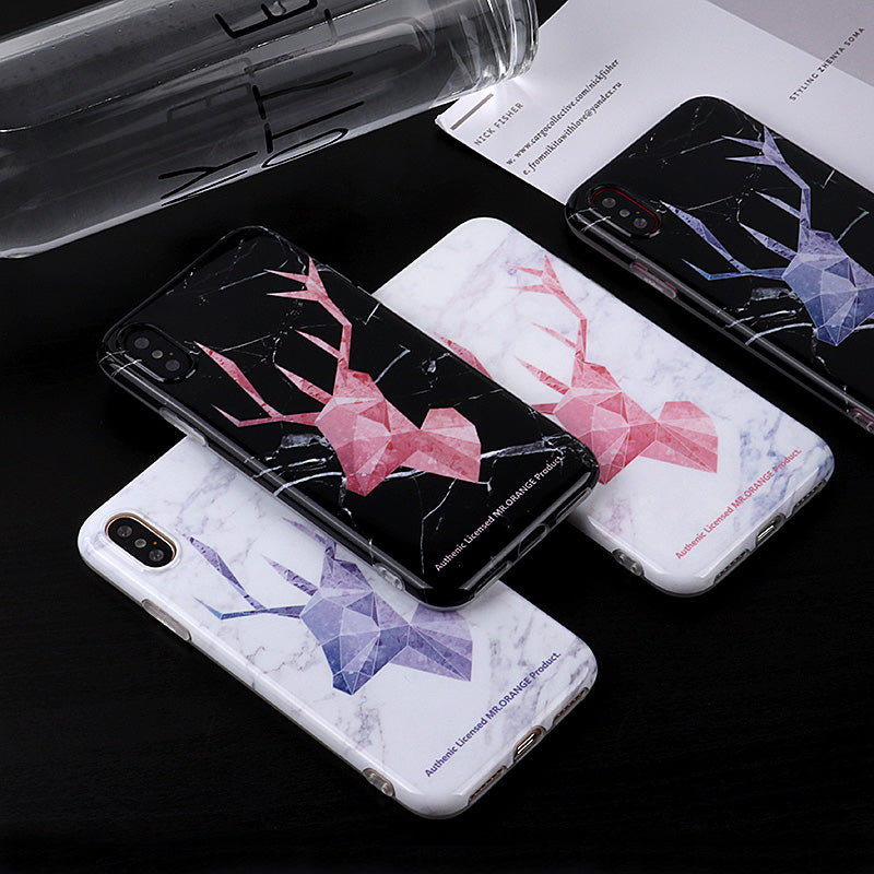 iicase-australia_Literature deer pattern gloss TPU iPhone XS Case 5.8""