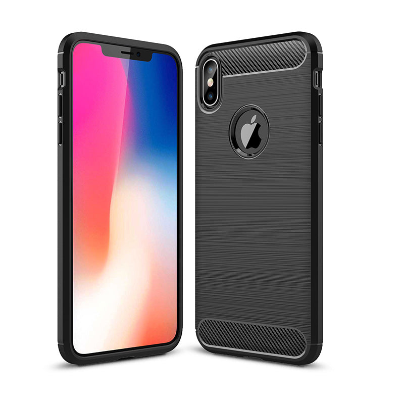 Soft TPU silicone with carbon design iPhone X case