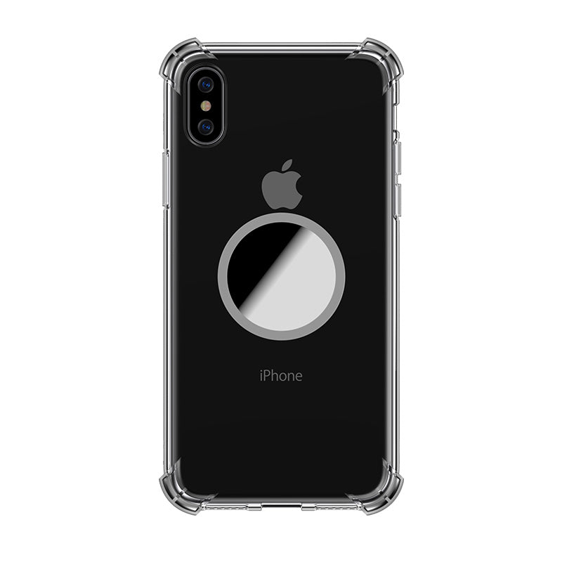 Transparent Protection TPU with mirror kickstand iPhone X Case 5.8""