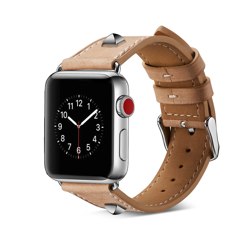 iicase-australia_Vintage rivets genuine leather Apple Watch Band