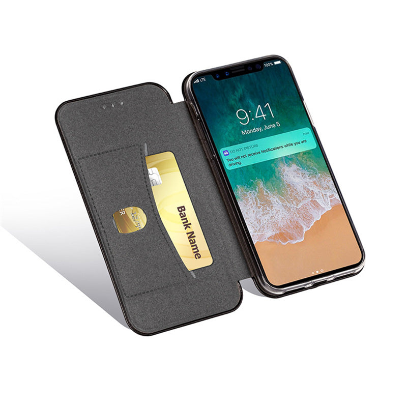 Super slim shell style leather wallet folio iPhone X/10 Case