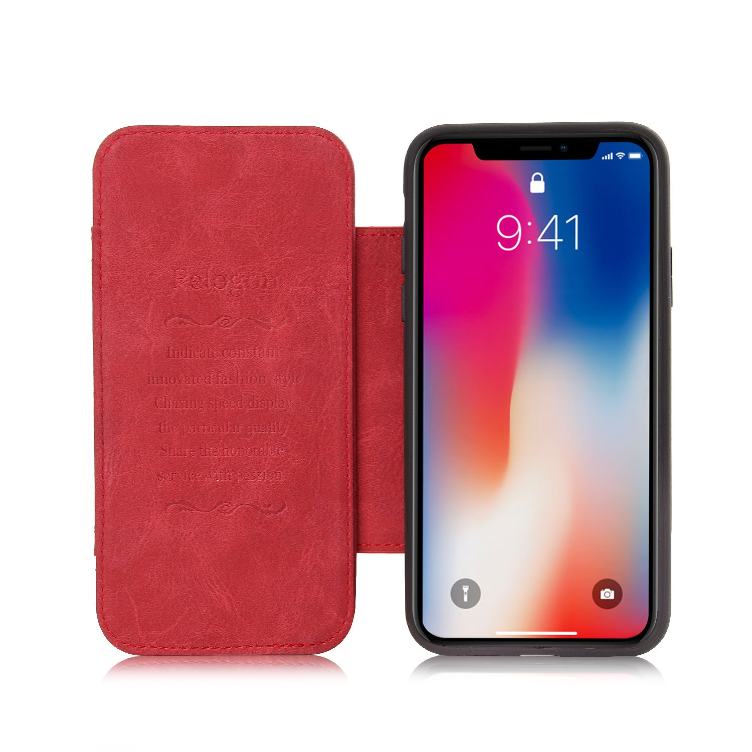 Genuine Leather Simple Folio Card slot iPhone X/10 Case