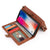 "Genuine Leather Magnet Detachable wallet with 4 card slot iPhone XS Case 5.8"" - iiCase"