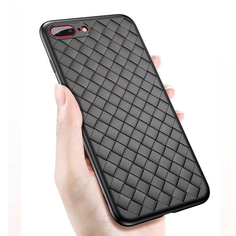Breath! Woven pattern soft TPU slim iPhone 8+ Plus Case 5.5 inch