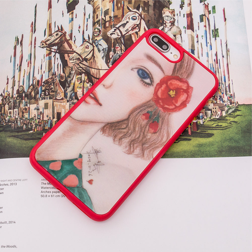 Designer beautiful girl pattern protection iPhone 7+ Plus Case 5.5 inch