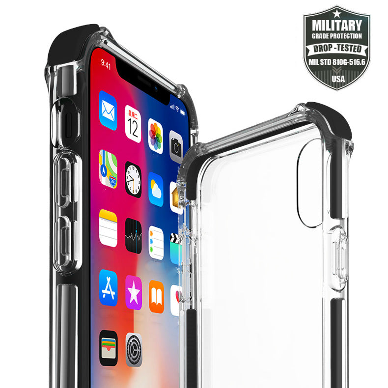 Military Grade Protection Colourful bumper transparent iPhone 8+ Plus Case 5.5 inch
