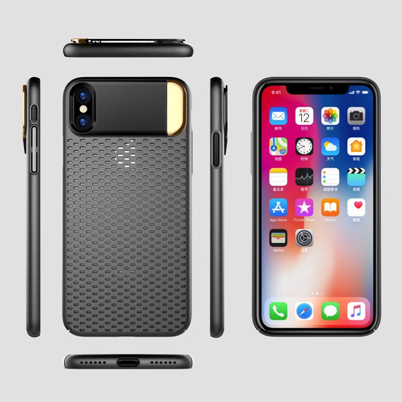 Beehive breath slim with kick stand protection iPhone X/10 Case