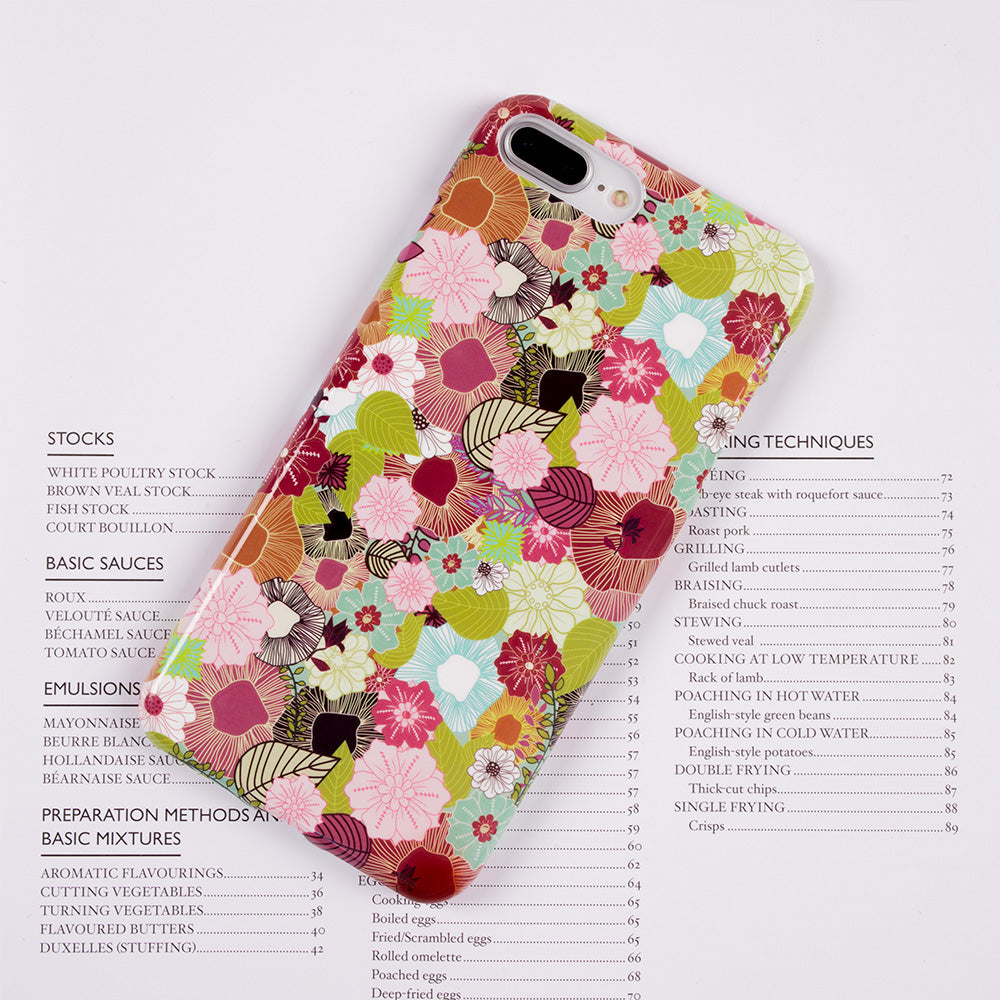 Leaf and flower pattern soft TPU silicon iPhone 7+ Plus Case 5.5 inch