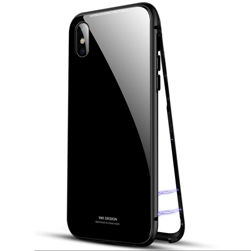 Super Hot! WK metal magnet close front back protection iPhone 8 Case 4.7 inch