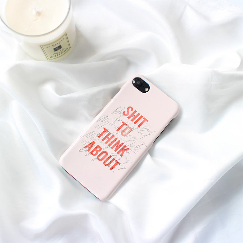 "iicase-australia_""Shit To Think About"" fashion ultra slim iPhone 8+ Plus Case 5.5 inch"