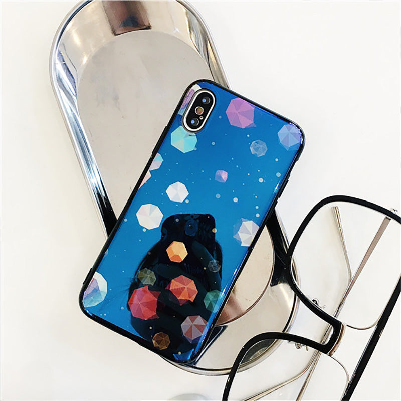 Blue laser space rocks pattern soft iPhone 7+ Plus Case 5.5 inch