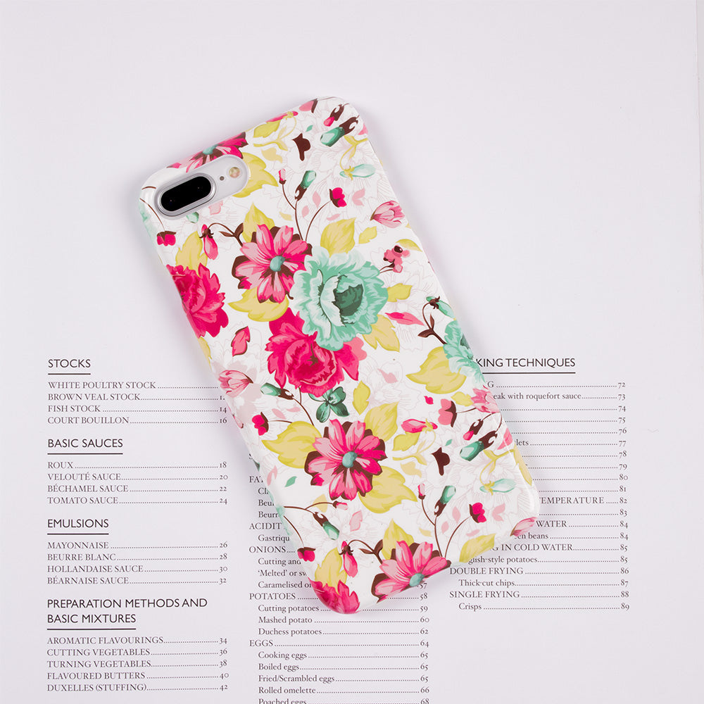 Gloss Jasmin flower pattern soft TPU silicon iPhone 7 Case 4.7 inch