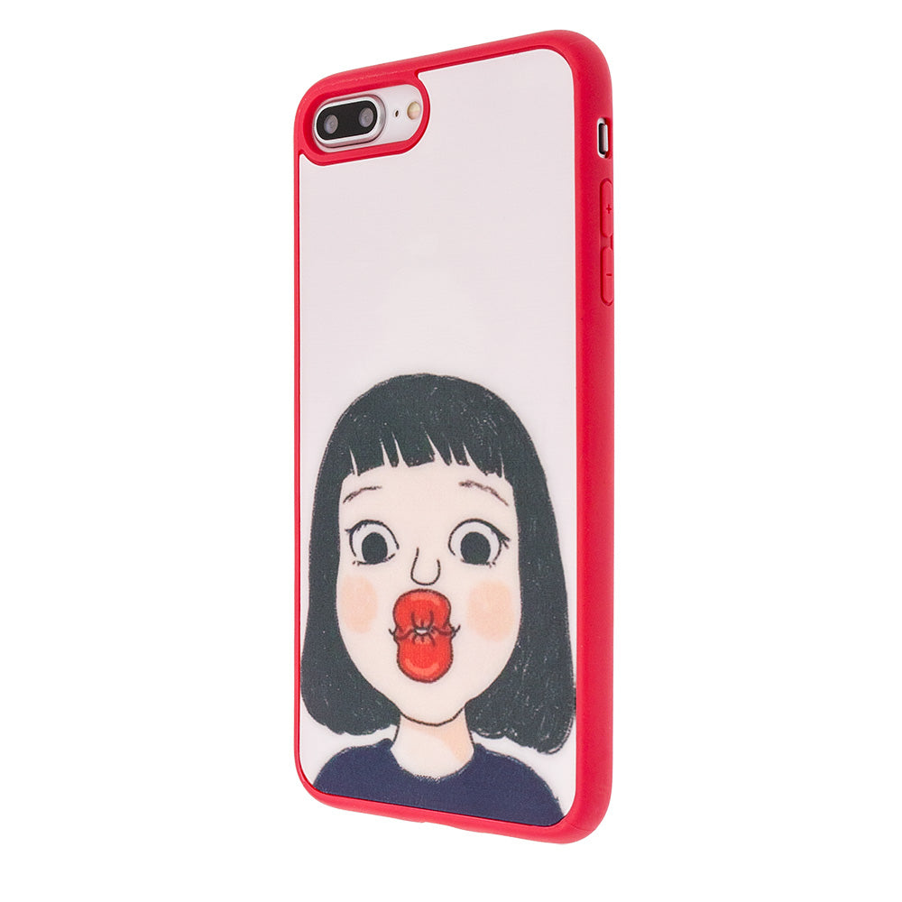 Lovely Cute Girl's Kiss soft TPU Fashion iPhone SE/5 Case