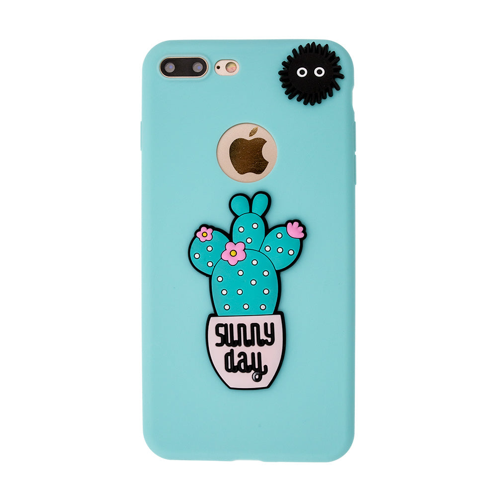 "Soft TPU cute ""Sunny Day"" cactus fashion iPhone SE/5 Case"
