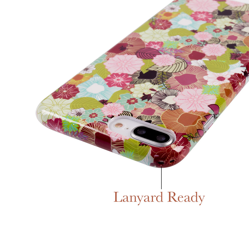 Leaf and flower pattern soft TPU silicon iPhone 8 Case 4.7 inch