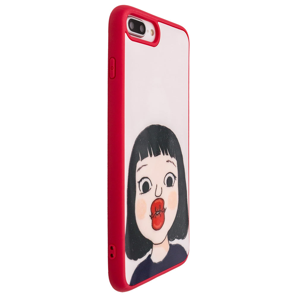 Lovely Cute Girl's Kiss soft TPU Fashion iPhone 7 Case 4.7 inch