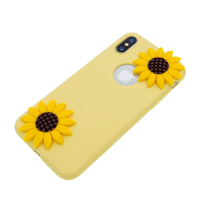 iicase-australia_Soft TPU cute sun flowers fashion iPhone XS Case 5.8""