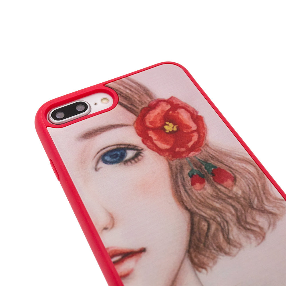 Designer beautiful girl pattern protection iPhone 8+ Plus Case 5.5 inch