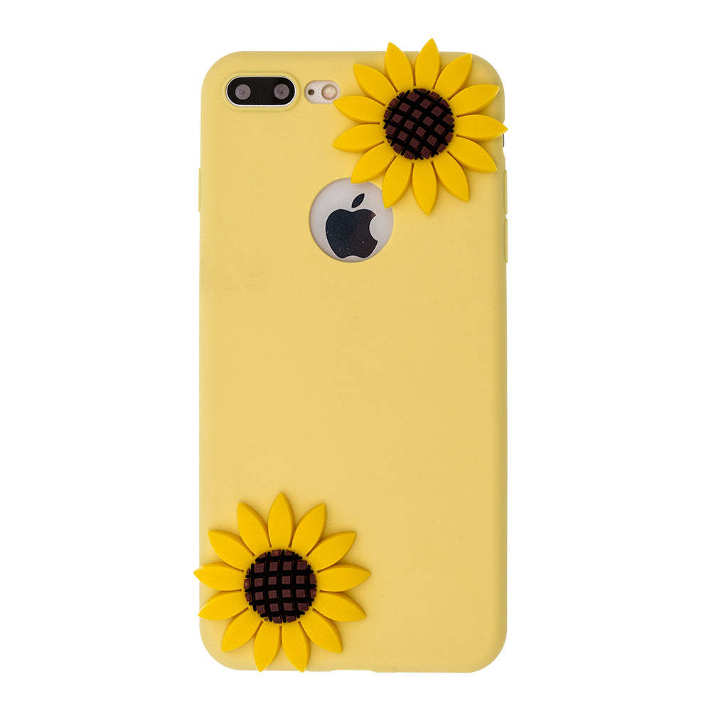 Soft TPU cute sun flowers fashion iPhone SE/5 Case