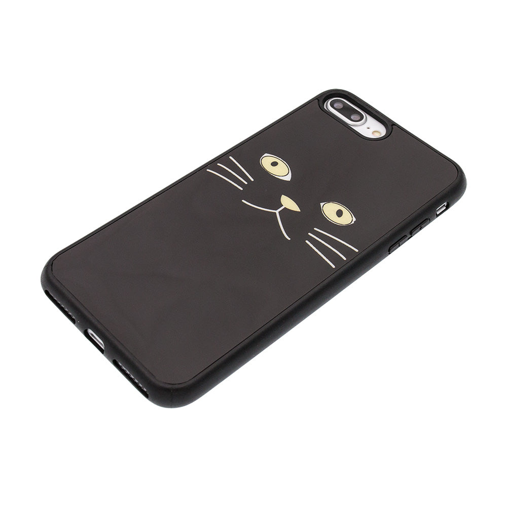 Black cat face gloss protection iPhone SE/5 Case