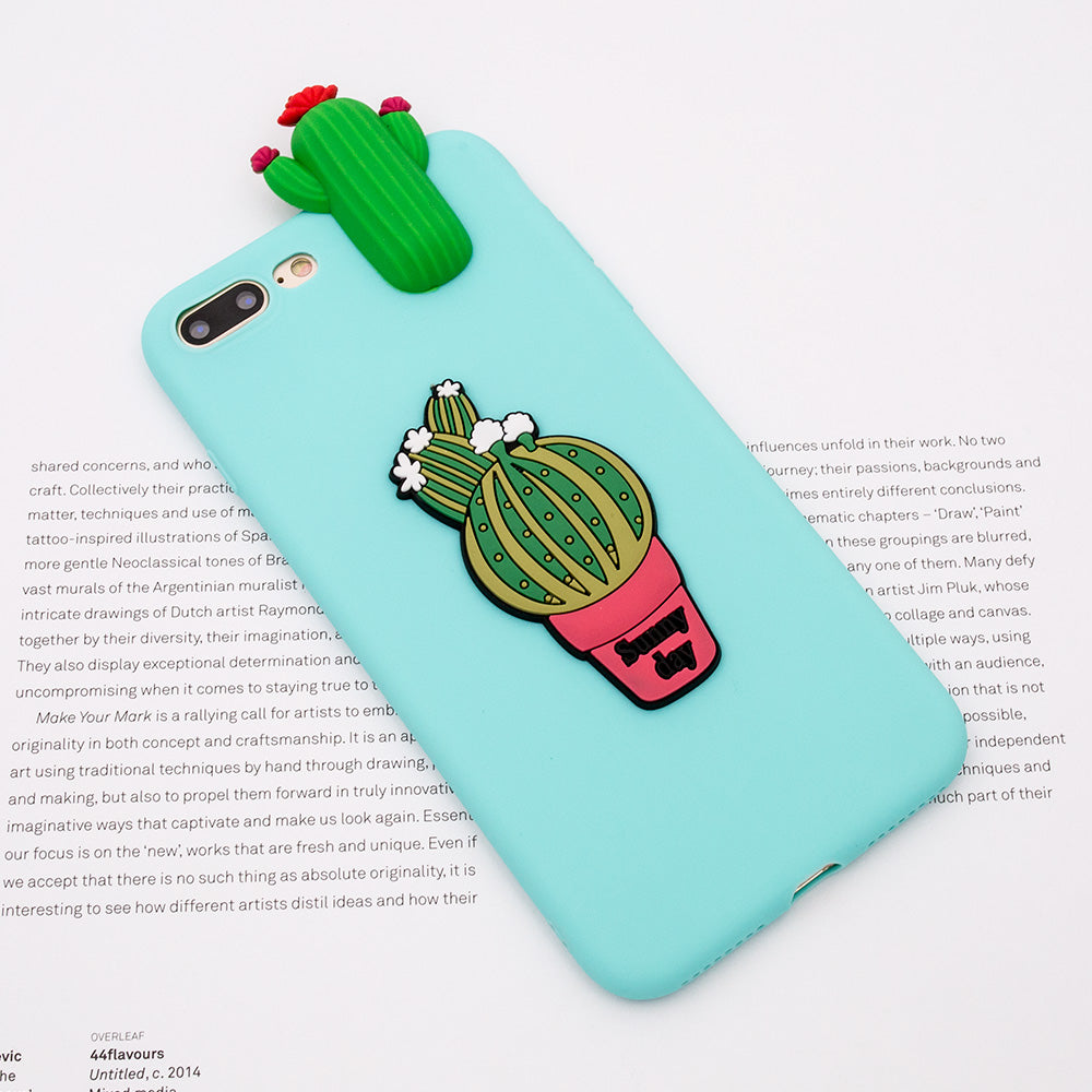 Soft TPU cute cactus fashion iPhone SE/5 Case