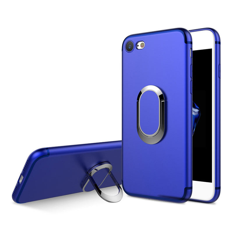 Colorful soft TPU with 360 degrees ring and stand iPhone 8 Case