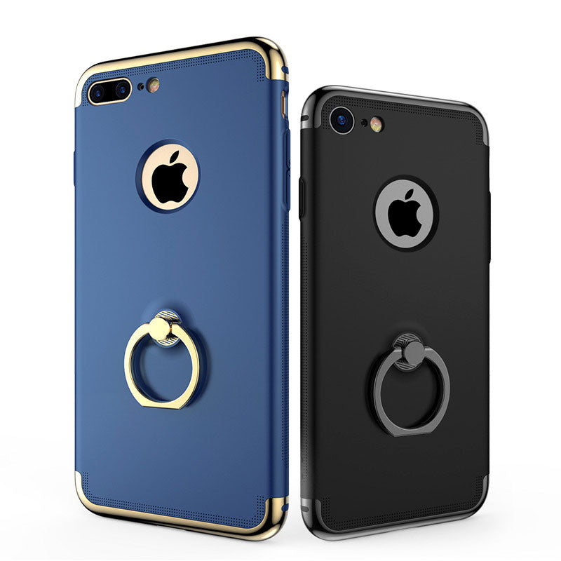 Three parts joint full protection with 360-degrees ring stand iPhone 8 Case