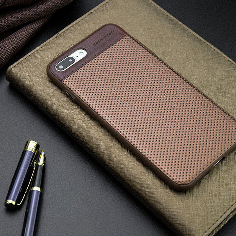 Genuine Leather business style breathe freely iPhone 6s+ Plus Case 5.5 inch