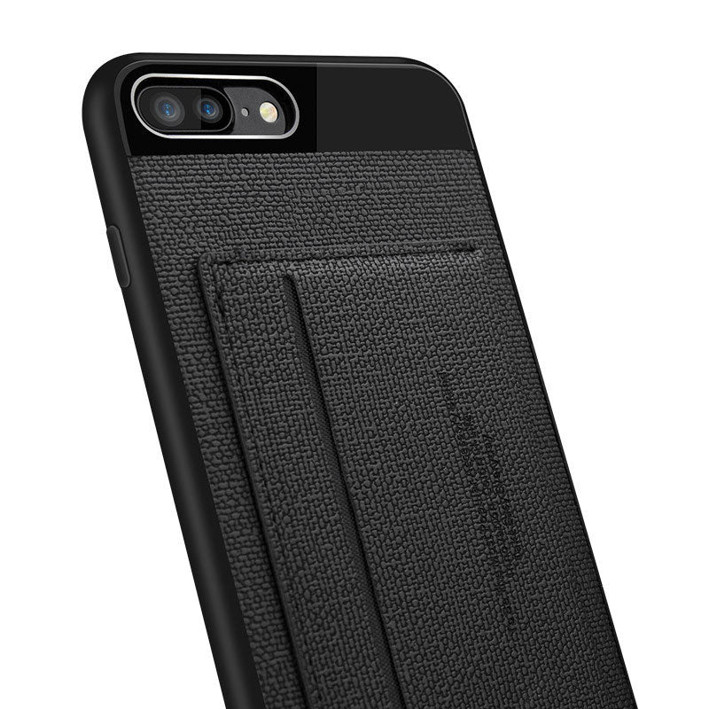 competitive price 37049 78853 Business style Leather fiber pattern with card slot stand iPhone 7 case  cover