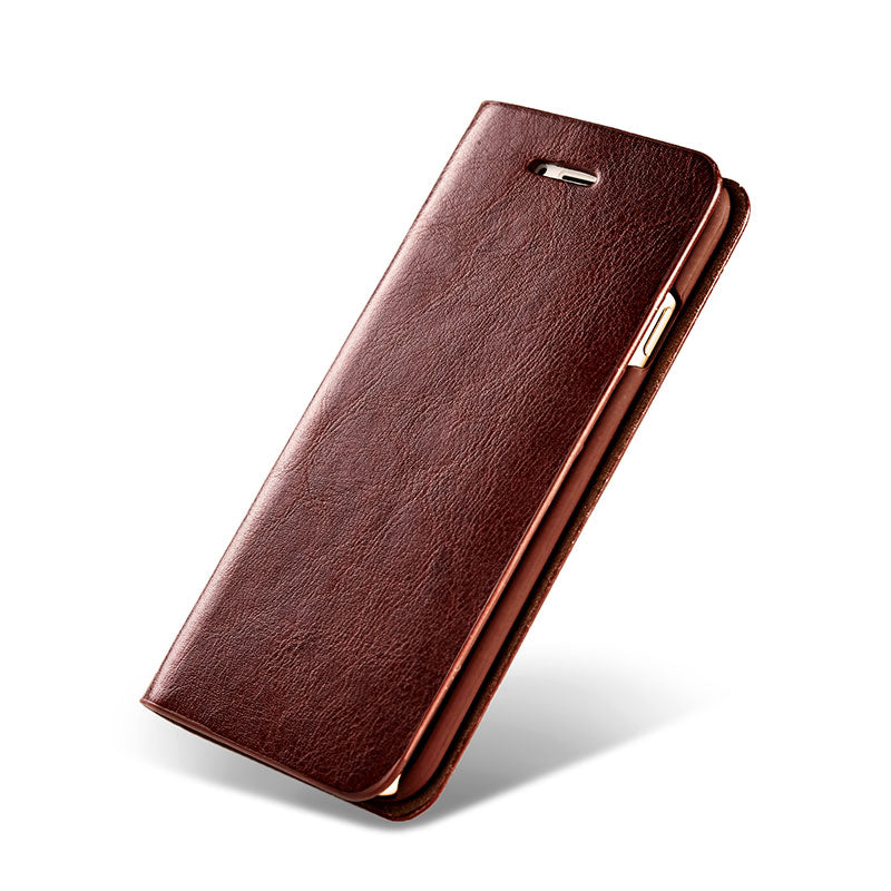 Genuine leather with card slots flip iPhone XS Case 5.8""