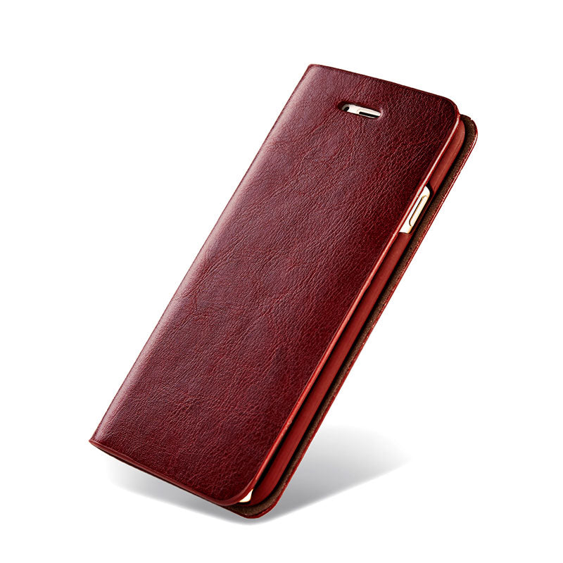 Genuine leather with card slots flip iPhone 7 case cover