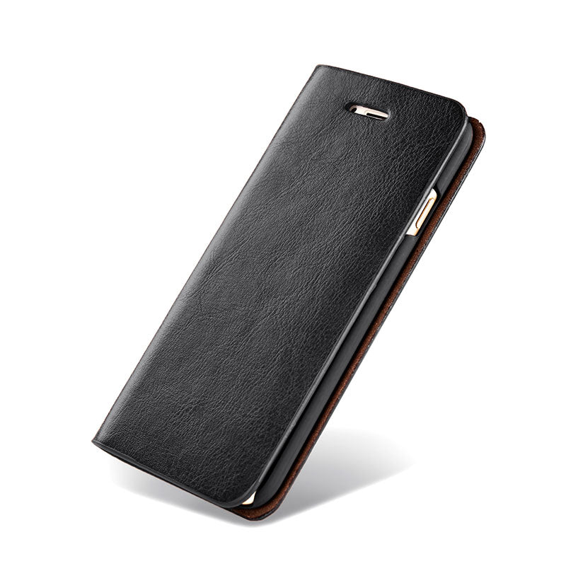 Genuine leather with card slots flip iPhone 8 case cover