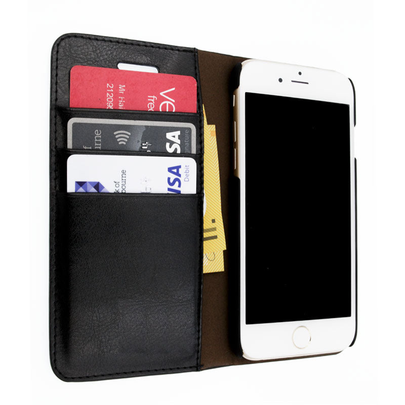 Genuine leather with card slots flip iPhone 8 Plus case cover