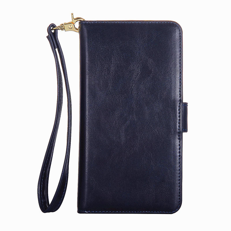 Genuine leather wallet with girdle and seperate wallet iPhone 8 Plus case