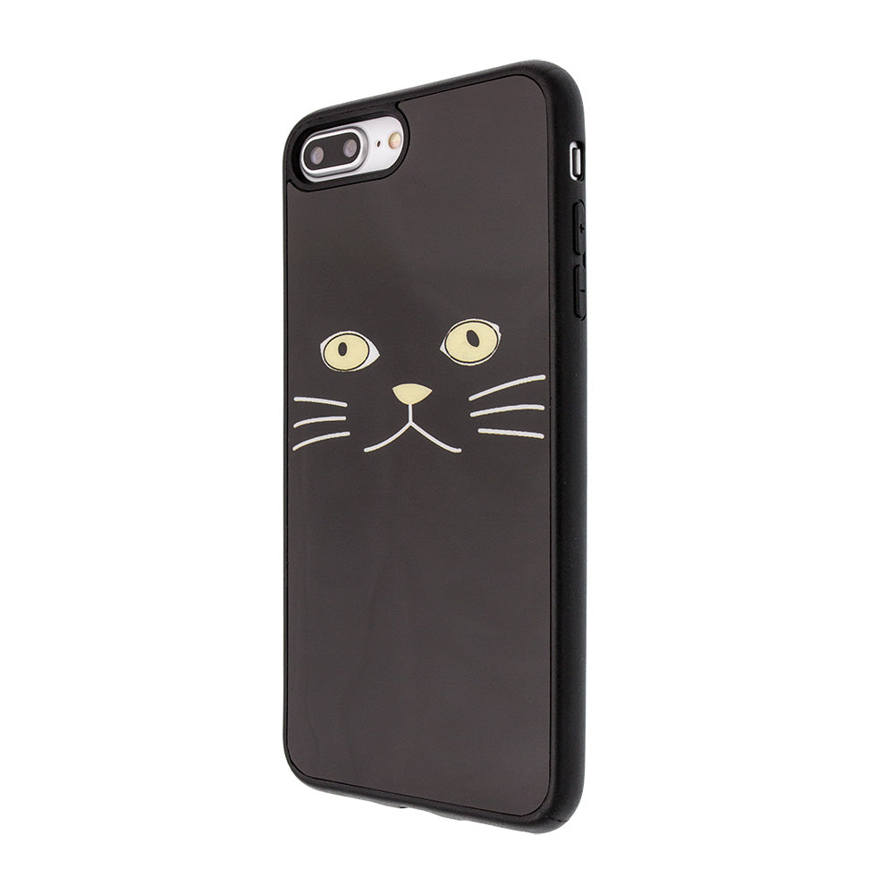 Black cat face gloss protection iPhone 7+ Plus Case 5.5 inch