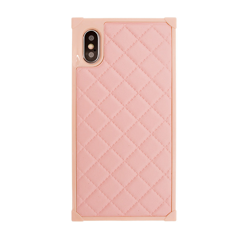 Classic grids style square soft TPU fashion protection iPhone XS Case 5.8""