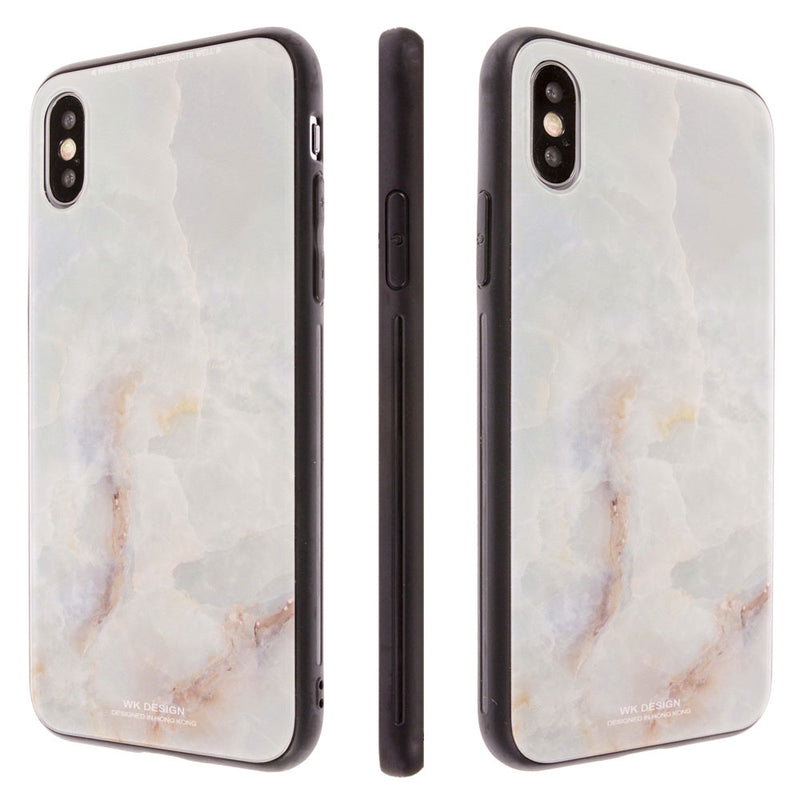 iicase-australia_WK DESIGN® Fashion Marble Pattern 9D tempered glass iPhone Case