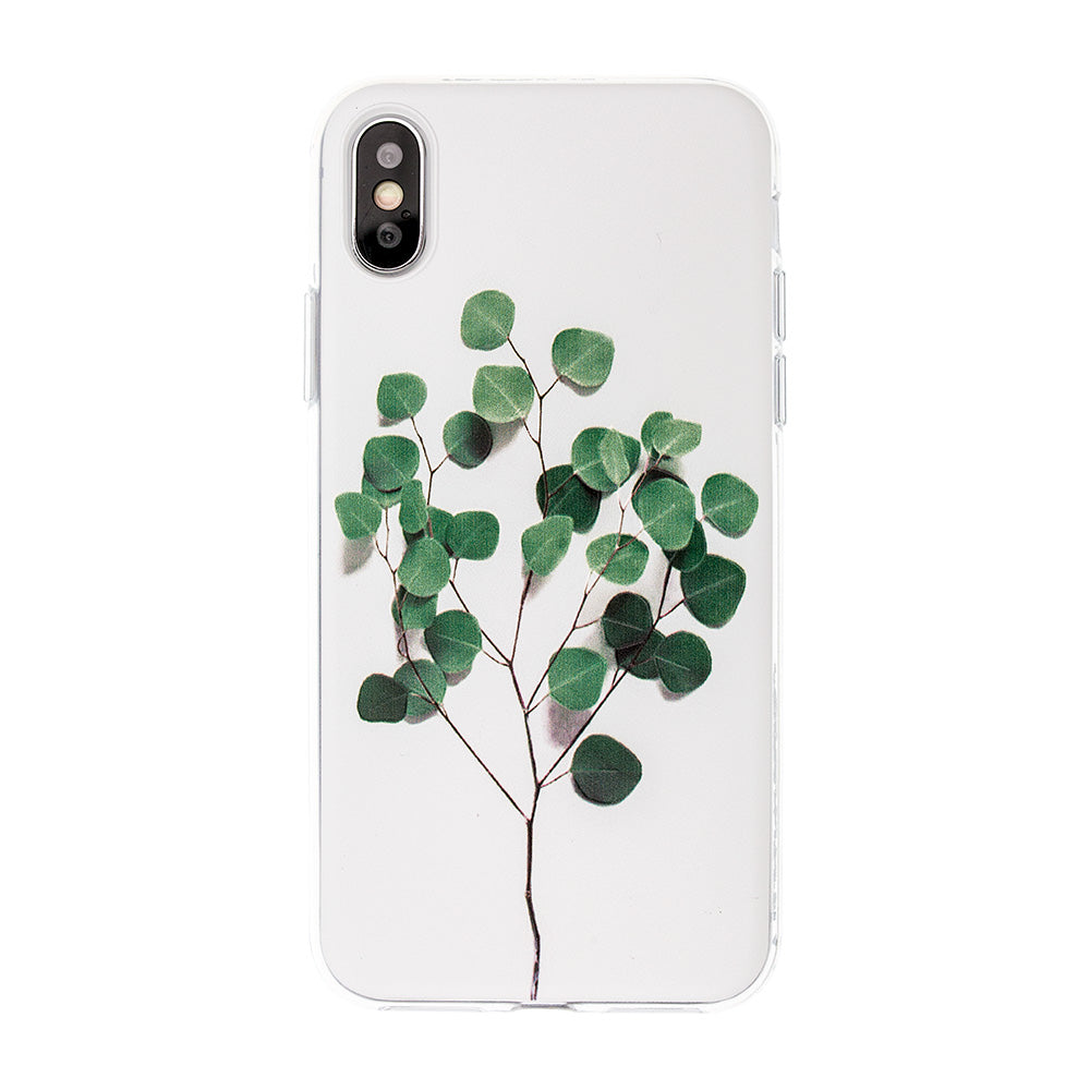 Stereoscopic green tree pattern soft TPU slim iPhone X/10 case