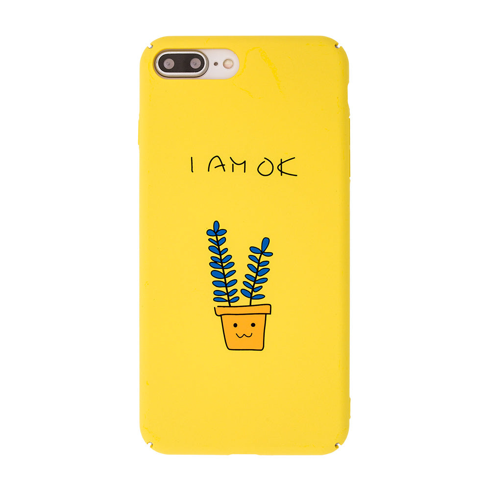 """I am OK"" ultra slim cute simple touch PC iPhone 8 Case 4.7 inch"