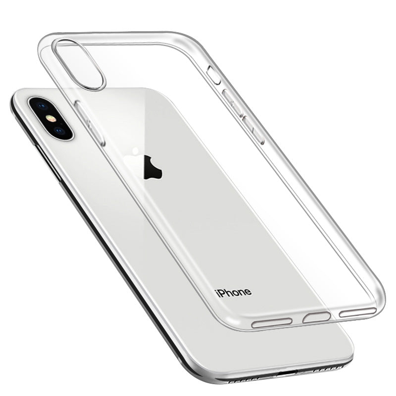 Super clear transparent TPU ultra slim iPhone X Case 5.8""