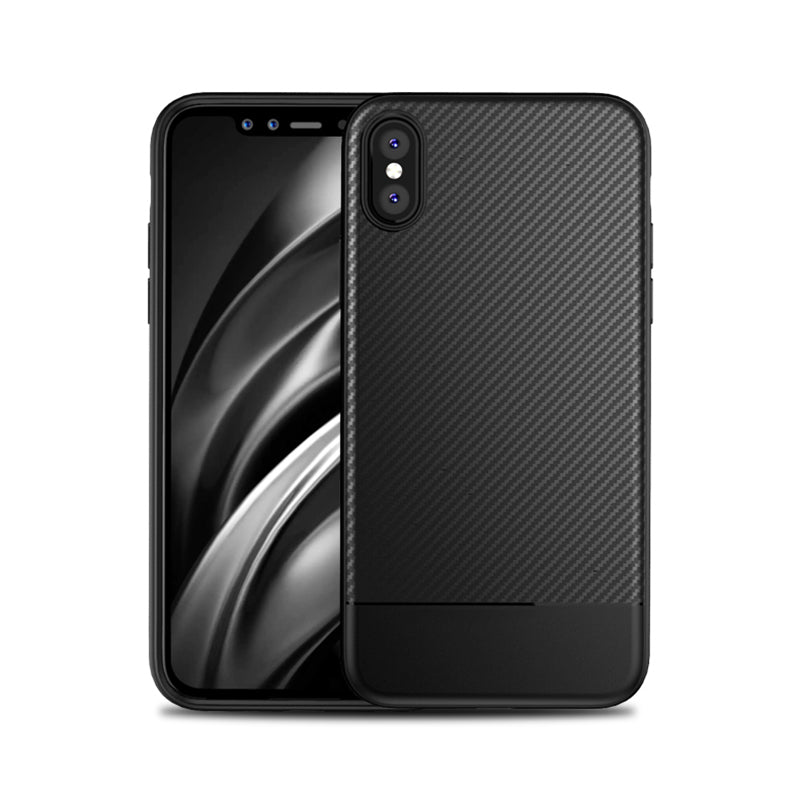 Carbon pattern soft TPU fashion design protect iPhone XS Case 5.8""