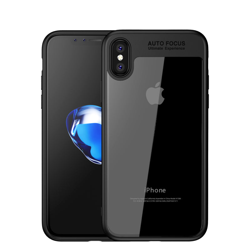 outlet store b155a 5a5f2 Auto Focus colorful TPU silicone + transparent PC iPhone X Case Cover