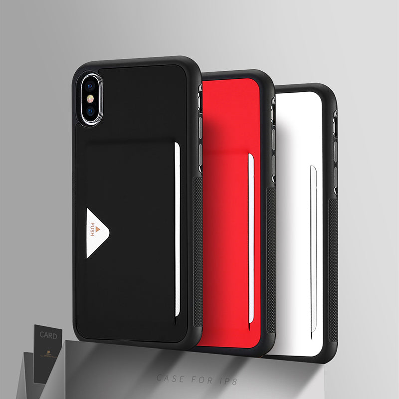 Leather + TPU bumpers with smart designed card slot iPhone X/10 Case Cover