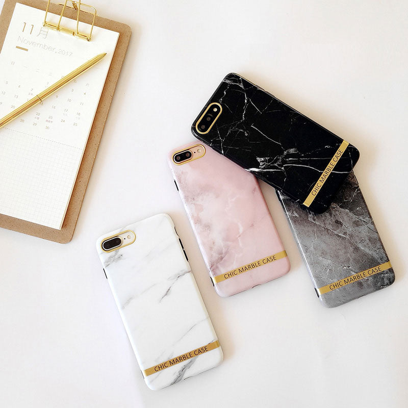 Marble with Metal style fashion design iPhone 6/6s Case